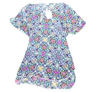 Multi color short sleeve blouse